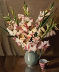 gladiolus flowerpiece by dermont james hellier