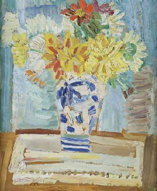búcaro con flores by rené portocarrero