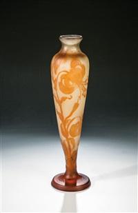 vase mit türkenbundlilie by cristallerie d'emile gallé