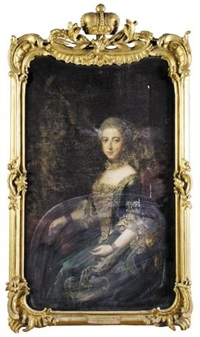 portrait of queen elisabeth christine, wife of king frederick wilhelm ii of prussia by anna rosina lisiewski