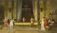 a game of billiards by francesco beda