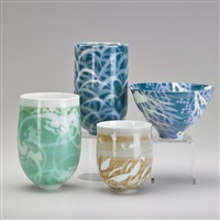 vessels (4 works) by xiaosheng bi