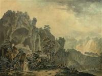 vue de l'ermitage de tri soulte dans le royaume de naples by jean-baptiste antoine tierce