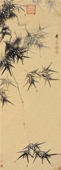 竹石图 by dai mingyue