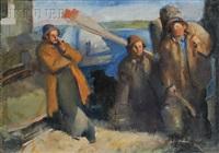 fishermen walking home by edmund f. ward