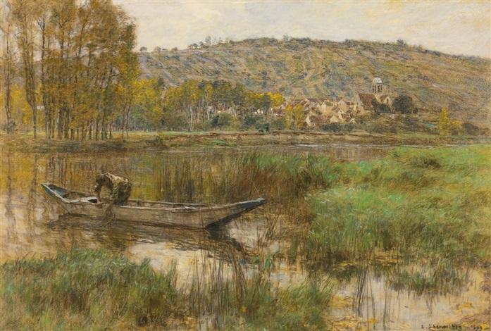 le pêcheur à chartèves by léon augustin lhermitte