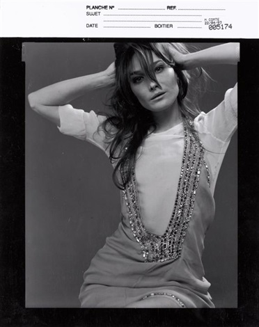 carla bruni 2 works by michel comte