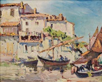 harbor view, martigues, france by john wesley cotton