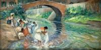 lavanderas en el río by gonzalo bilbao martínez