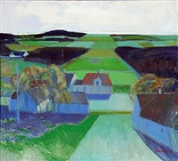 landscape with fields by bírge ibsen