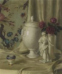 stillleben mit weißem porzellan by paul walter ehrhardt