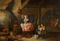 interieur eines holländischen bauernhauses by matheus van helmont