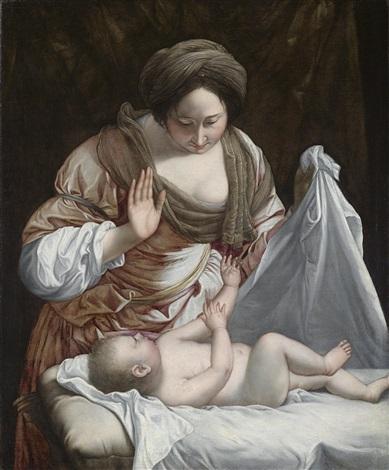 madonna mit kind oder frau mit kind by orazio gentileschi
