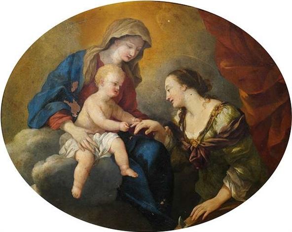 die mystische vermählung der heiligen katharina von alexandrien by giovanni francesco romanelli