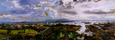 panoramic view of manila by federico aguilar alcuaz