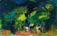 cavallini nel bosco by gianrodolfo d'accardi
