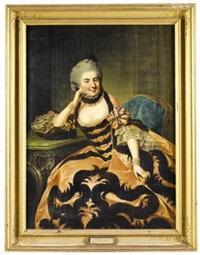 portrait of the margravine sophie caroline marie of brandenburg-bayreuth by johann georg ziesenis