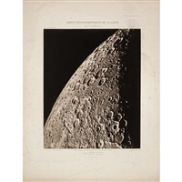 group of two plates from the carte photographique de la lune by charles le morvan