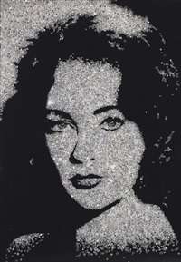 elizabeth taylor (from pictures of diamonds) by vik muniz