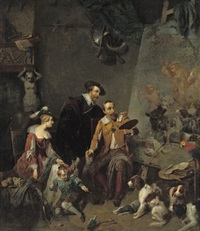 rubens in the studio of the painter frans snijders by petrus kremer