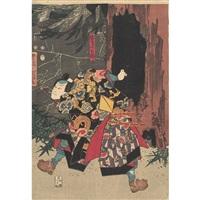 scene from kabuki by utagawa toyokuni (toyokuni i)