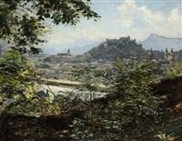 blick auf salzburg by leo reiffenstein
