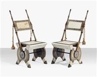 side chairs (pair) by carlo bugatti