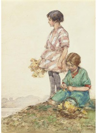 gathering flowers by robert eadie