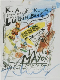2 sheets: tambur mayor by jean tinguely