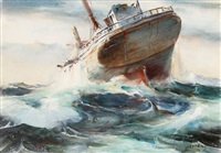 ship's bone yard & disaster at sea by james milton sessions