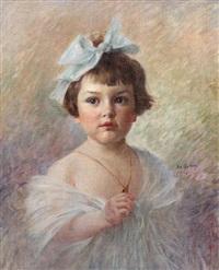 portrait d'enfant by edouard gelhay