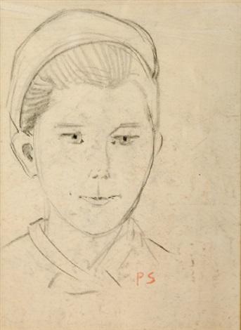 portrait de jeune fille à la coiffe de travail by paul sérusier