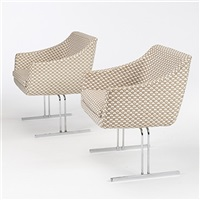 armchairs (pair) by hugh acton