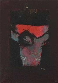 der gekreuzigte (+ ohne titel, smllr; 2 works) by adi holzer