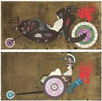 japanese spirit #11; & japanese spirit #12 (2 works) by hisashi tenmyouya