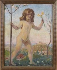 allegorie des frühlings by walter teutsch