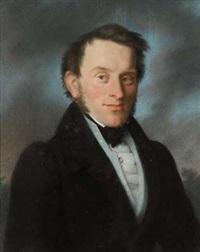 portrait eines herrn mit mondsteinnadel by johann friedrich karl kreul