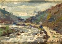 paisaje con rio by théodore de laps