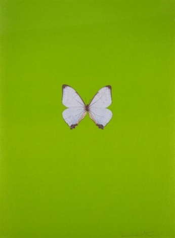 green butterfly by damien hirst
