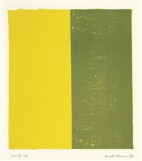 canto xii, from 18 cantos by barnett newman
