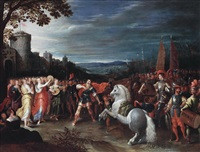 jephta erblickt seine tochter by pieter lisaert iv