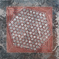 floating hexagon by monir shahroudy farmanfarmaian