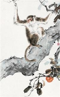 猴戏 by liu jiyou