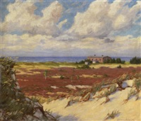sommerliche dünenlandschaft by paul lehmann-brauns