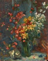 vase de fleurs et coquillages by jacques martin