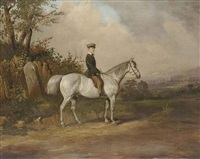 a young boy on a dappled grey by joseph dunn