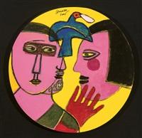 couple et oiseau (autoportrait) by corneille