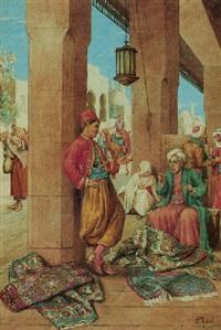 a rug merchant, cairo by paolo folchi