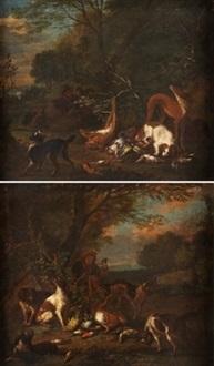 descanso de la caza (pair) by adriaen de gryef
