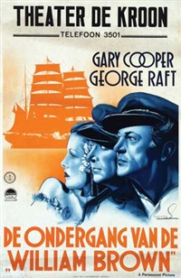gary cooper and george raft in de ondergang van de william brown (souls at sea) by franciscus joseph eng mettes